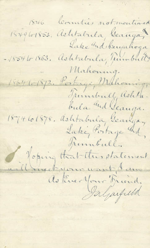 Image 3 for President James A. Garfield - Manuscript Letter Signed 07/17/1880 - HFSID 4835