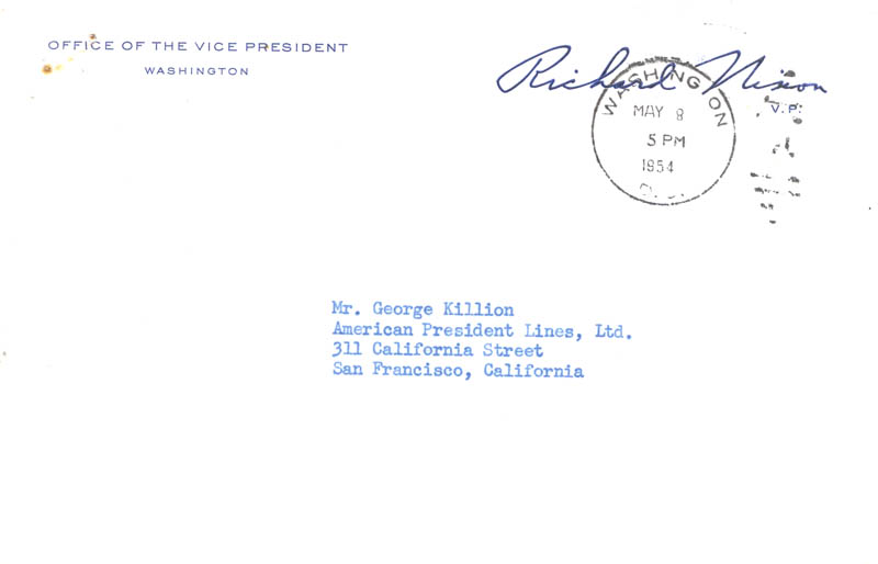 Image 3 for President Richard M. Nixon - Typed Letter Signed 05/07/1954 - HFSID 48365