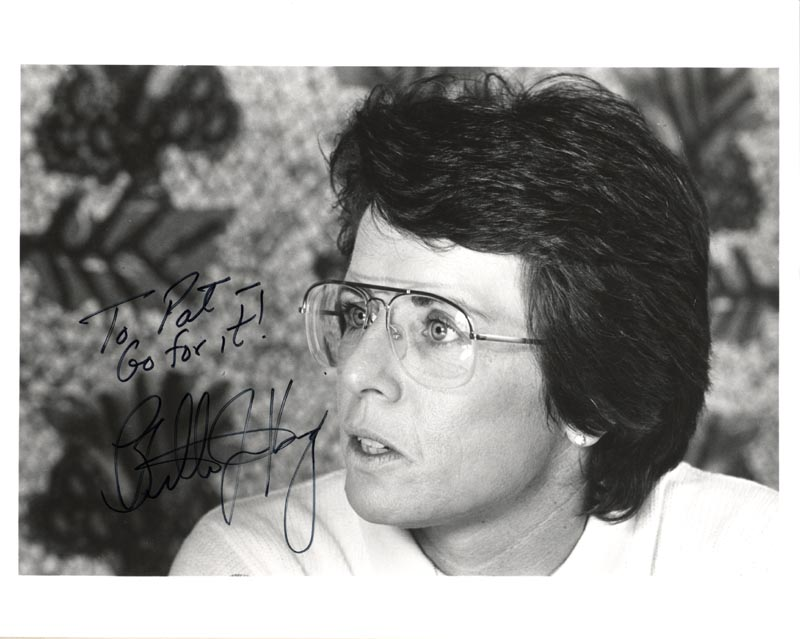 Image 1 for Billie Jean King - Autographed Inscribed Photograph - HFSID 48399