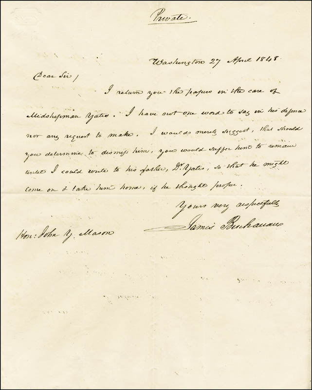 Image 1 for President James Buchanan - Autograph Letter Signed 04/27/1848 - HFSID 4841