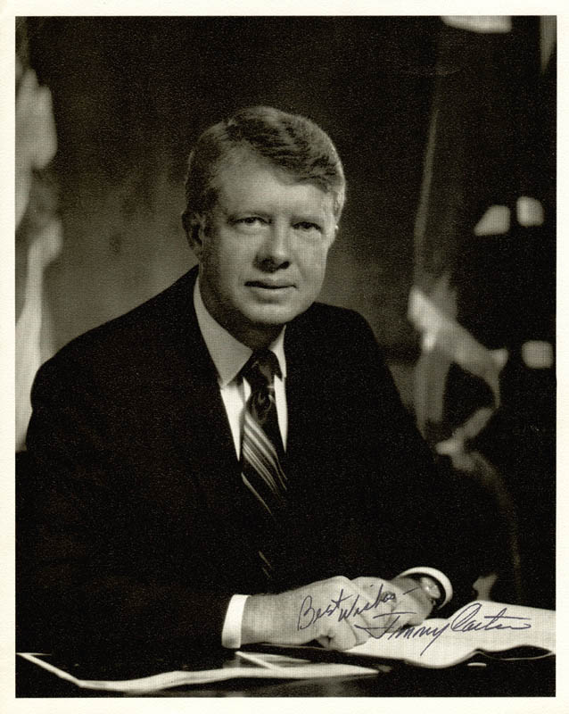 Image 1 for President James E. 'Jimmy' Carter - Autographed Signed Photograph - HFSID 48505