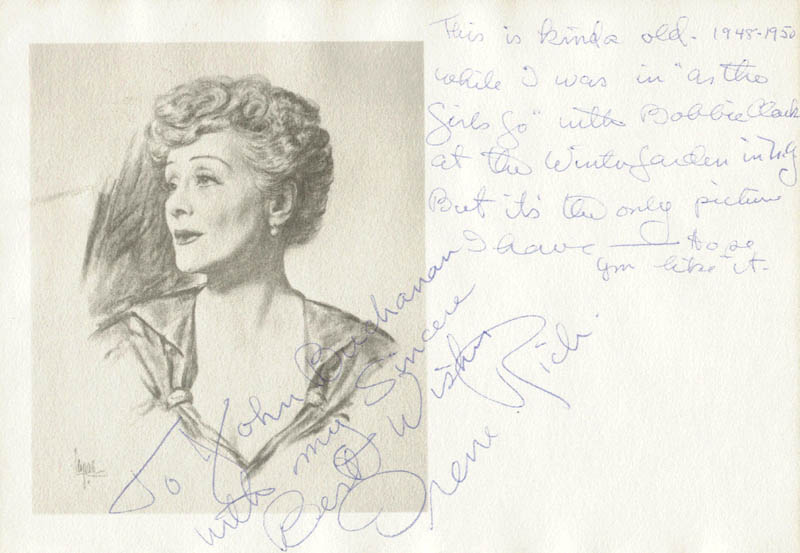 Image 1 for Irene Rich - Autograph Note Signed - HFSID 48548