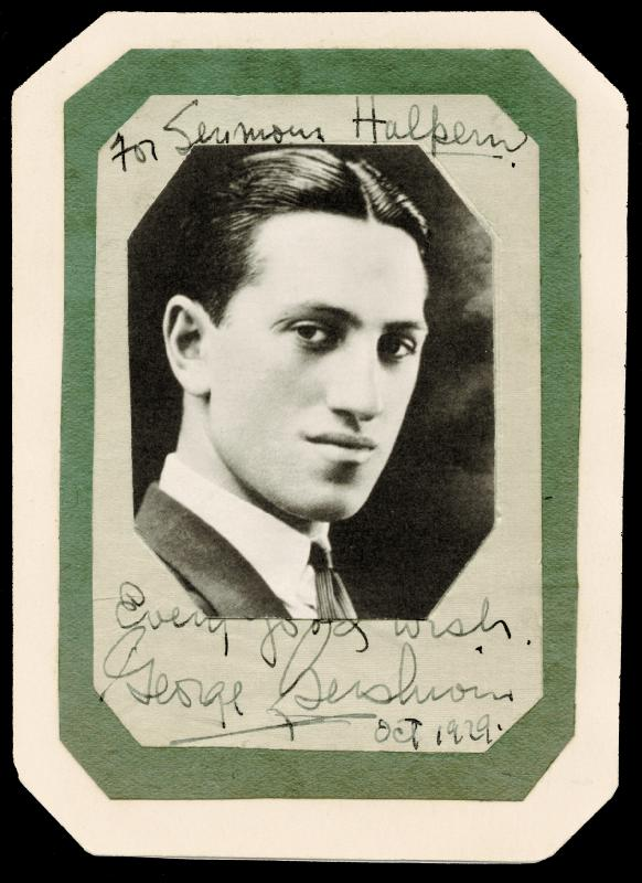 Image 1 for George Gershwin - Inscribed Photograph Mount Signed 10/1929 - HFSID 48609