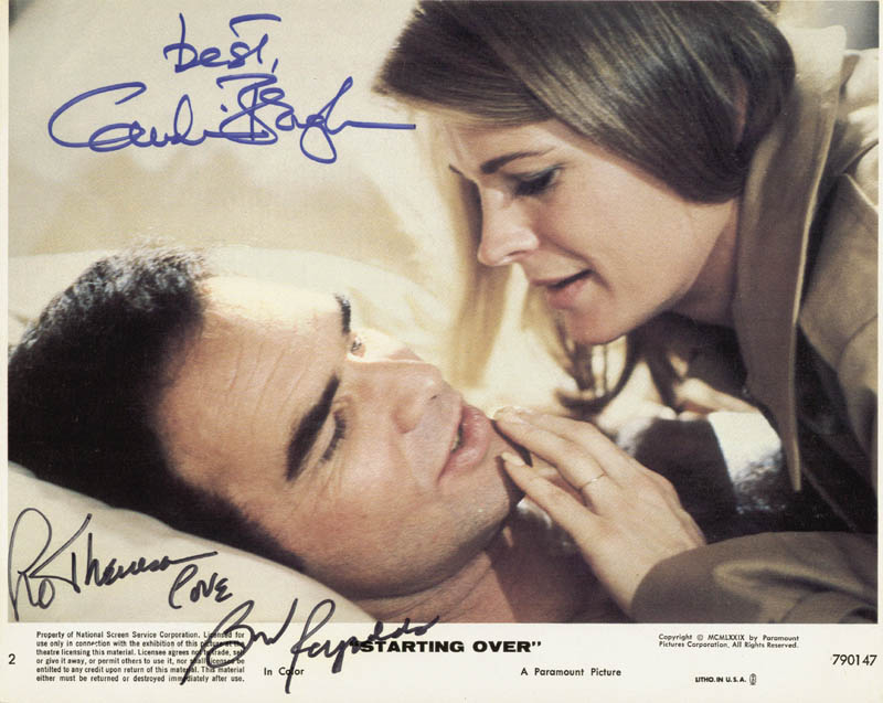 Image 1 for Starting Over Movie Cast - Autographed Inscribed Photograph co-signed by: Candice Bergen, Burt Reynolds - HFSID 48666