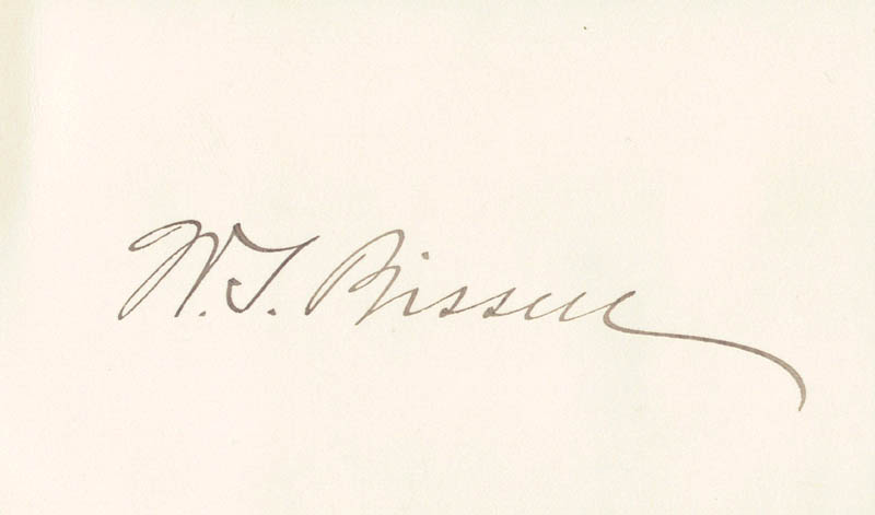 Image 1 for Wilson S. Bissell - Autograph - HFSID 49221