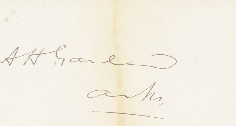 Image 1 for Augustus H. Garland - Autograph - HFSID 49241
