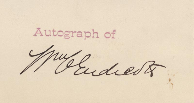 Image 1 for William C. Endicott - Printed Card Signed In Ink - HFSID 49263
