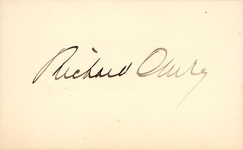 Image 1 for Richard Olney - Autograph - HFSID 49289