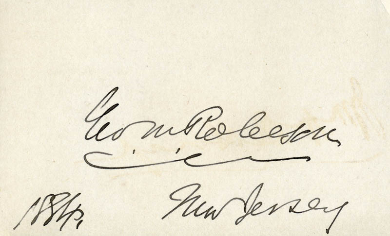 Image 1 for George M. Robeson - Autograph 1884 - HFSID 49360