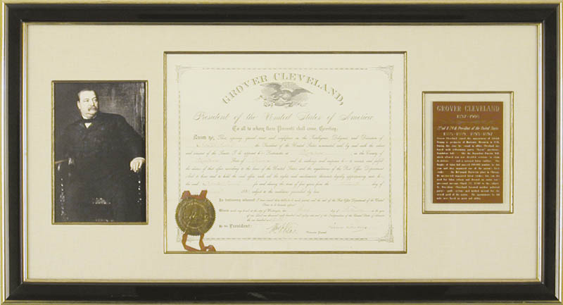 Image 1 for President Grover Cleveland - Civil Appointment Signed 02/03/1886 co-signed by: William F. Vilas - HFSID 4939