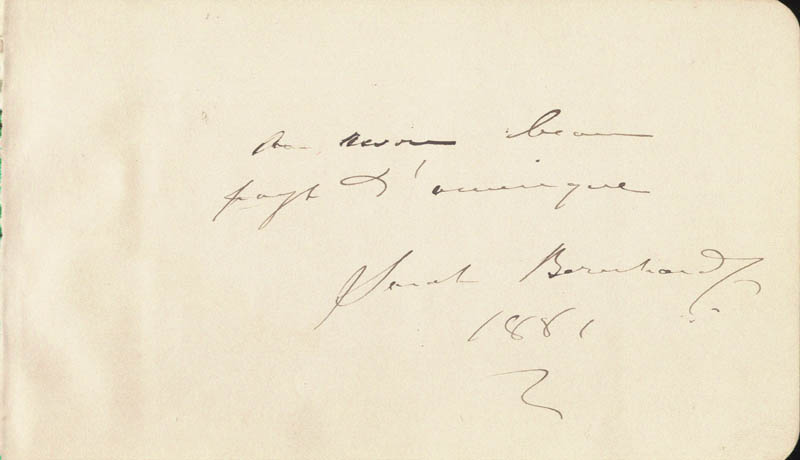 Image 1 for Sarah Bernhardt - Autograph Note Signed 1881 - HFSID 49523