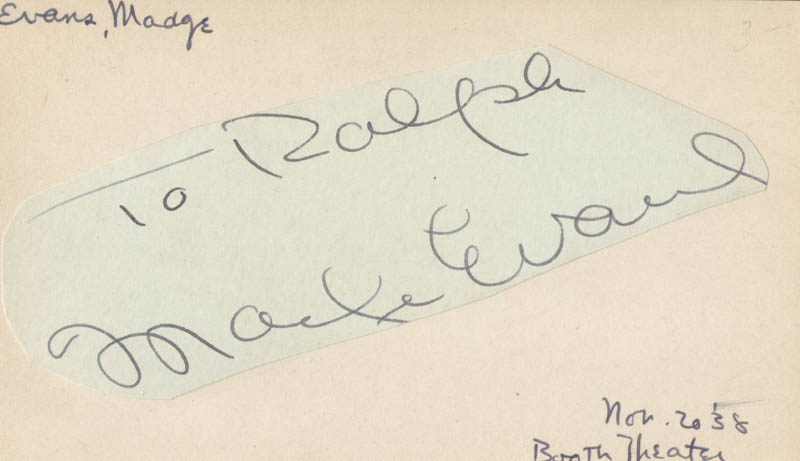 Image 1 for Madge Evans - Inscribed Signature Circa 1938 - HFSID 49590