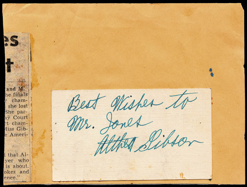 Image 1 for Althea Gibson - Inscribed Signature - HFSID 49653