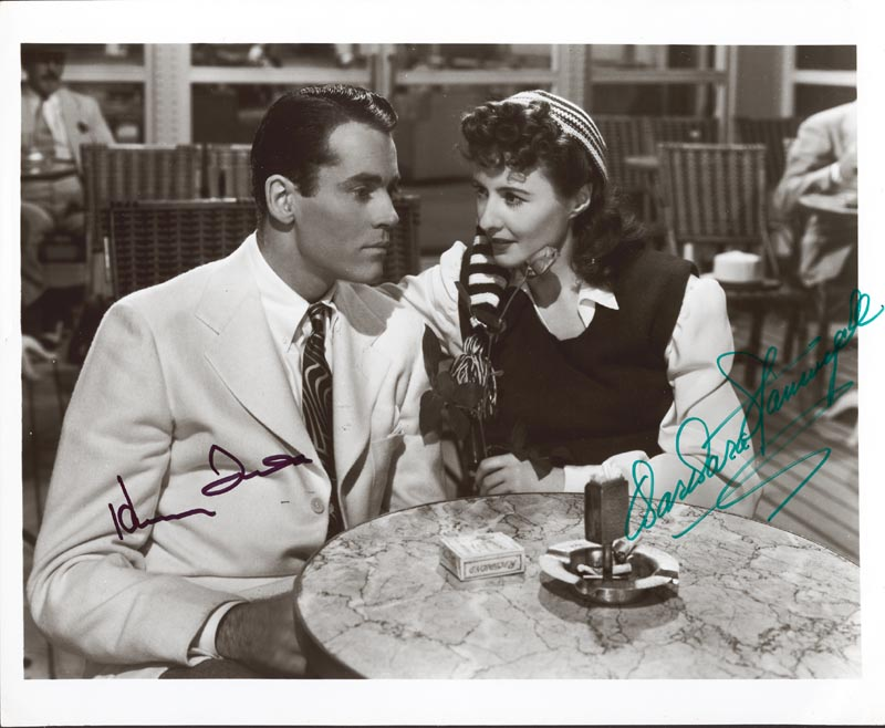 Image 1 for Lady Eve Movie Cast - Autographed Signed Photograph co-signed by: Henry Fonda, Barbara Stanwyck - HFSID 49716