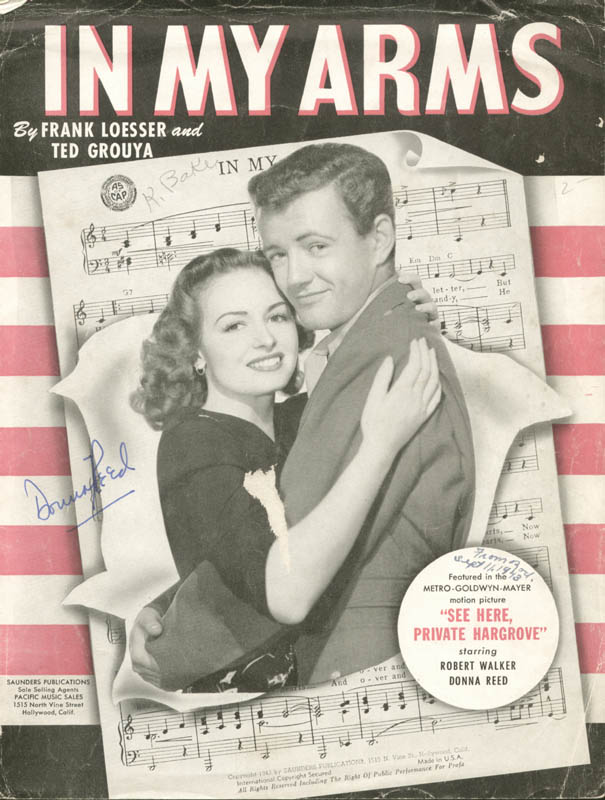 Image 1 for Donna Reed - Sheet Music Signed Circa 1943 - HFSID 49770