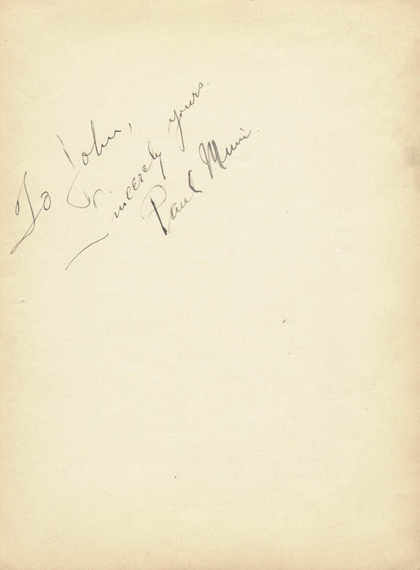 Image 2 for Paul Muni - Autograph Note Signed co-signed by: Lillian Roth - HFSID 498