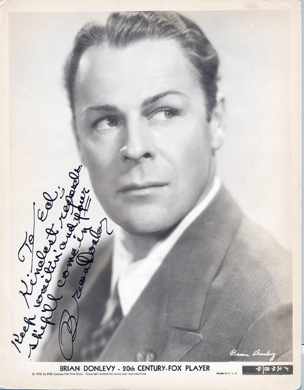 Image 1 for Brian Donlevy - Autographed Inscribed Photograph - HFSID 49866