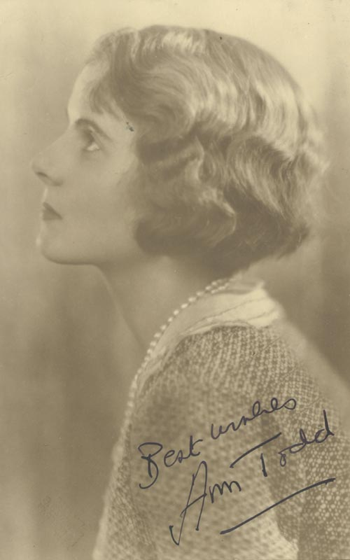 Image 1 for Ann Todd - Autographed Signed Photograph - HFSID 49876