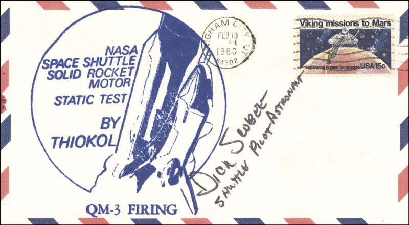 Image 1 for Lt. Colonel Dick (Francis R.) Scobee - Envelope Signed 02/13/1980 - HFSID 50144