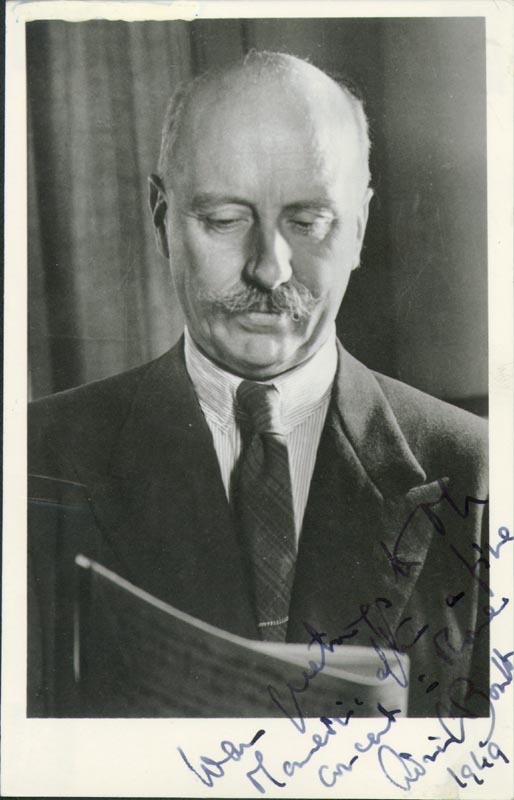 Image 1 for Sir Adrian C. Boult - Autographed Signed Photograph 1949 - HFSID 50485