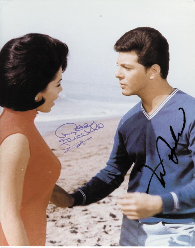 Image 1 for Frankie Avalon - Autographed Signed Photograph co-signed by: Annette Funicello - HFSID 50560