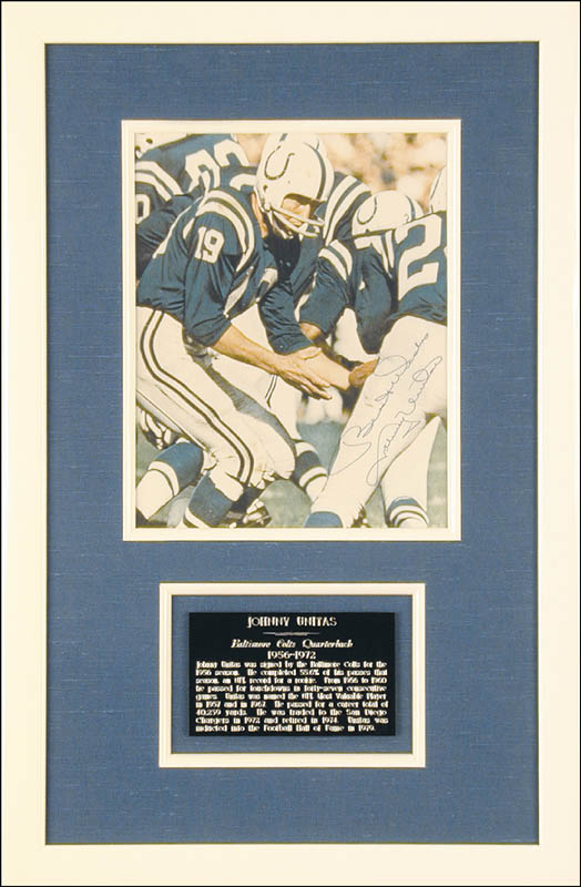 Image 1 for Johnny Unitas - Autographed Signed Photograph - HFSID 50629