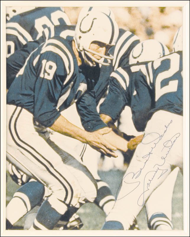 Image 3 for Johnny Unitas - Autographed Signed Photograph - HFSID 50629