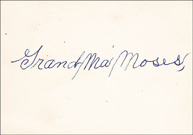 Image 1 for Grandma Moses - Autograph - HFSID 50729