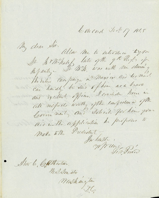 Image 1 for President Franklin Pierce - Autograph Letter Signed 12/17/1848 co-signed by: Charles Gordon Atherton - HFSID 5082