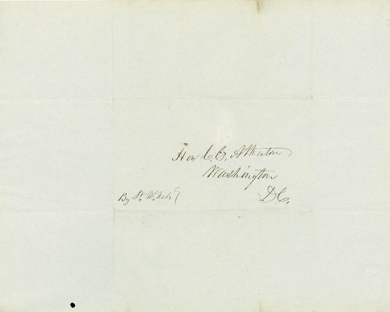 Image 4 for President Franklin Pierce - Autograph Letter Signed 12/17/1848 co-signed by: Charles Gordon Atherton - HFSID 5082