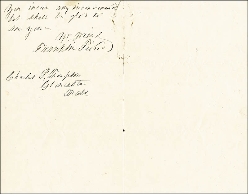 Image 1 for President Franklin Pierce - Autograph Letter Signed 12/09/1865 - HFSID 5089
