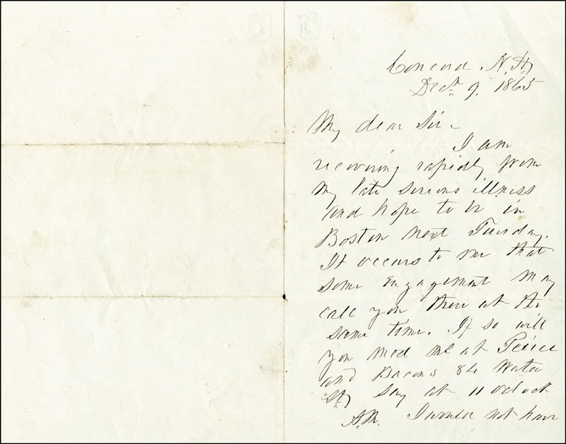 Image 3 for President Franklin Pierce - Autograph Letter Signed 12/09/1865 - HFSID 5089
