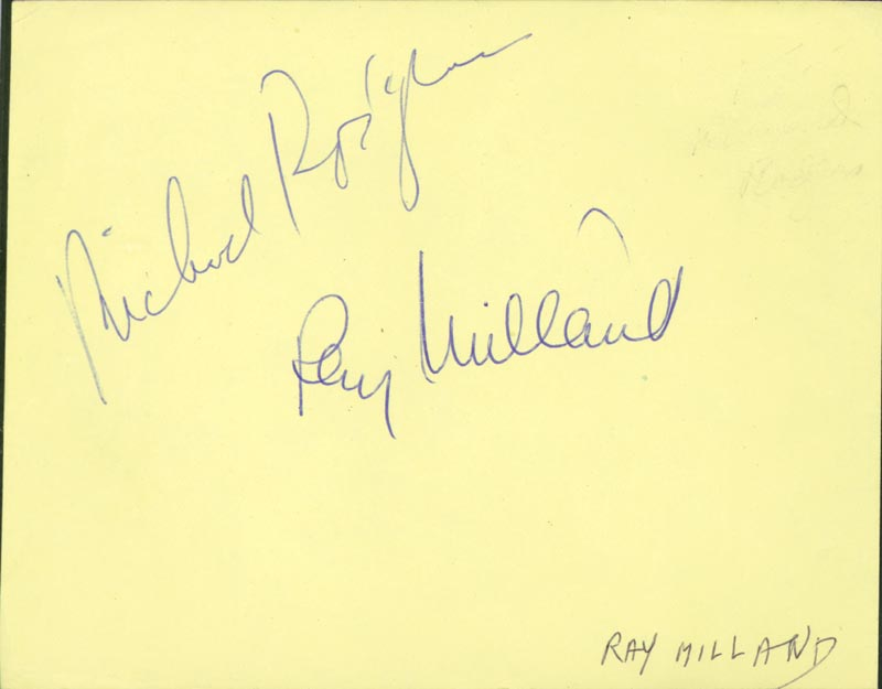 Image 1 for Richard Rodgers - Autograph co-signed by: Ray Milland, Joe De Santis - HFSID 509