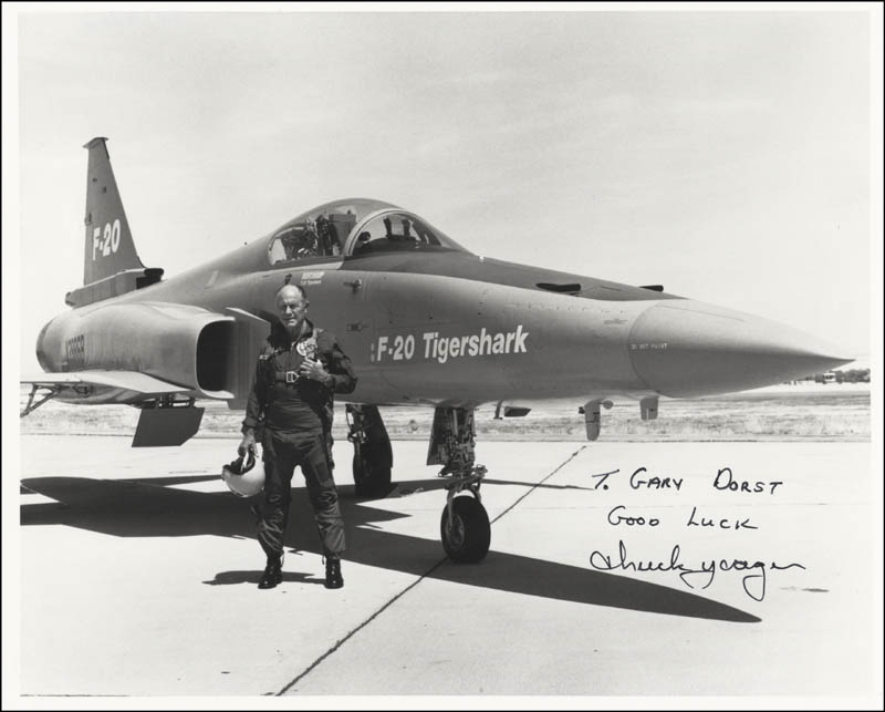 Image 1 for Brigadier General Chuck Yeager - Autographed Inscribed Photograph - HFSID 51141