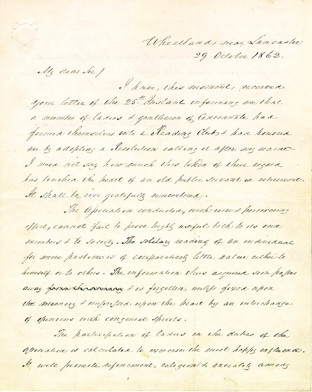 Image 3 for President James Buchanan - Autograph Letter Signed 10/29/1862 - HFSID 5115