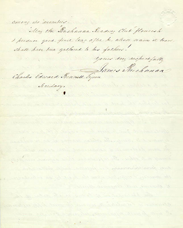 Image 4 for President James Buchanan - Autograph Letter Signed 10/29/1862 - HFSID 5115