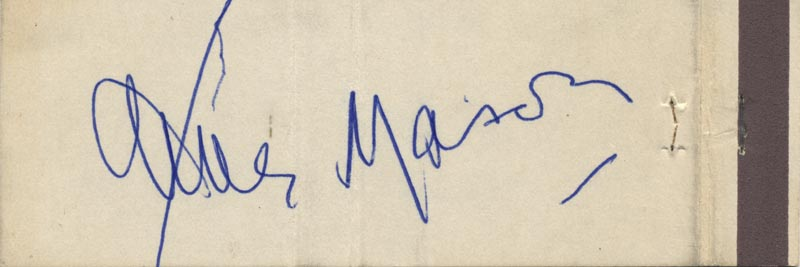 Image 1 for James Mason - Match Book Signed Circa 1971 - HFSID 51169