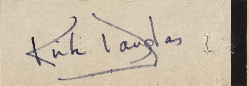 Image 1 for Kirk Douglas - Match Book Signed - HFSID 51180