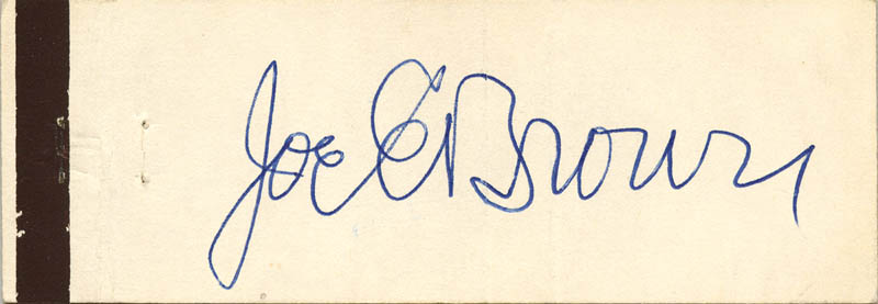 Image 1 for Joe E. Brown - Match Book Signed - HFSID 51181