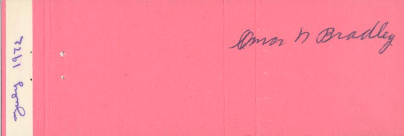 Image 1 for General Omar N. Bradley - Match Book Signed Circa 1972 - HFSID 51185