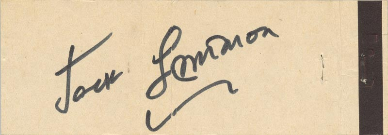 Image 1 for Jack Lemmon - Match Book Signed Circa 1970 - HFSID 51199