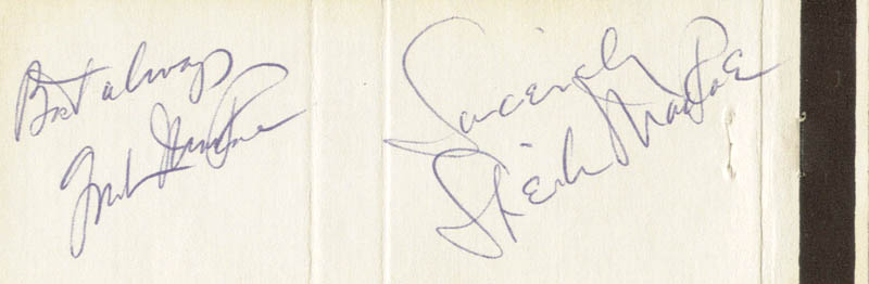 Image 1 for Gordon Macrae - Match Book Signed co-signed by: Sheila Macrae - HFSID 51212