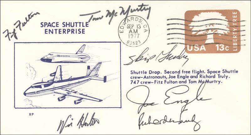 Image 1 for Major General Joe Engle - Commemorative Envelope Signed with co-signers - HFSID 51496