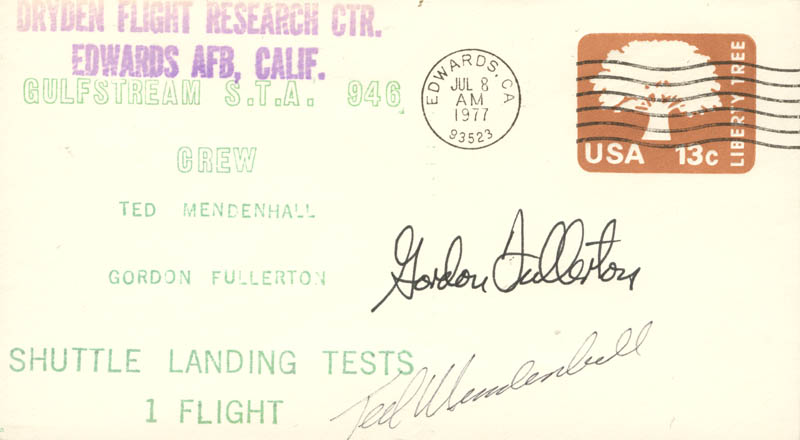 Image 1 for Colonel C. Gordon Fullerton - Commemorative Envelope Signed co-signed by: Ted Mendenhall - HFSID 51513