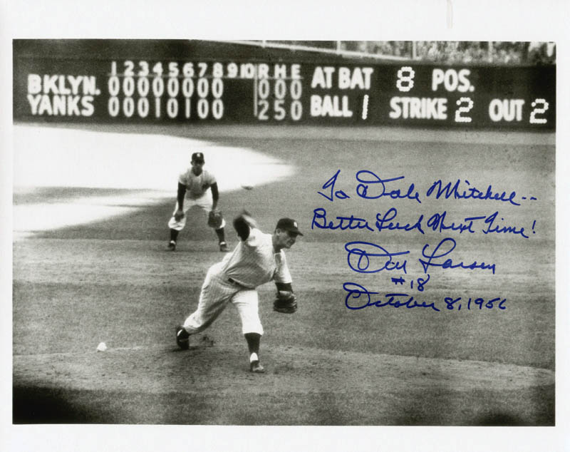 Image 1 for Don Larsen - Photo-typescript Signed - HFSID 51668