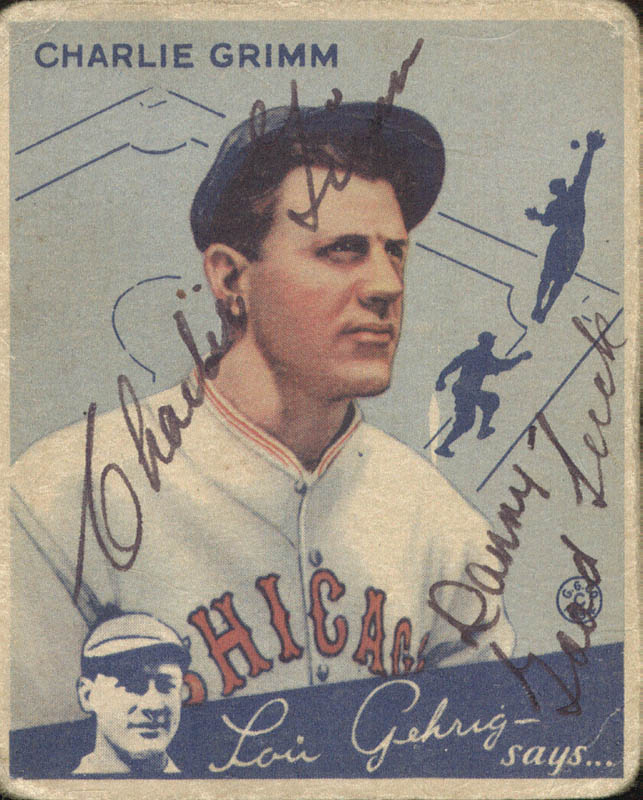 Image 1 for Charlie Grimm - Trading/Sports Card Signed - HFSID 51859