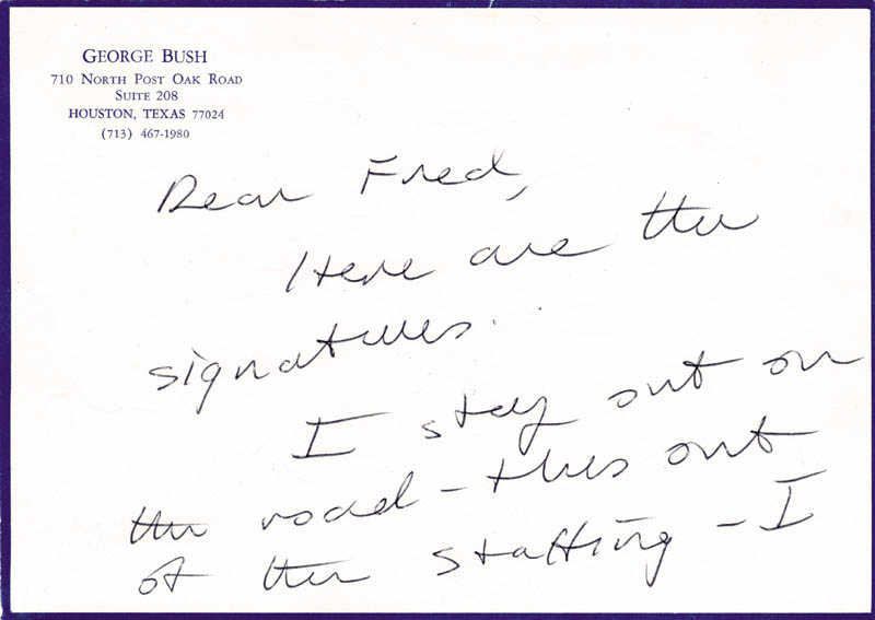 Image 3 for President George H.W. Bush - Autograph Letter Signed - HFSID 51962