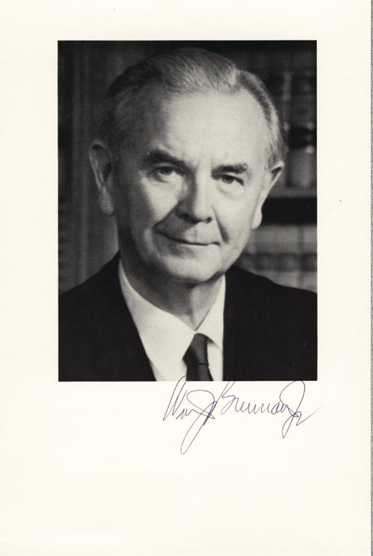 Image 1 for Associate Justice William J. Brennan Jr. - Autographed Signed Photograph - HFSID 51968