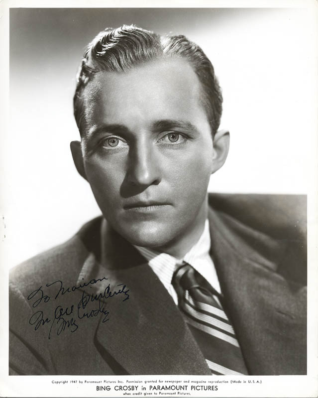 Image 1 for Bing Crosby - Autographed Inscribed Photograph - HFSID 52115