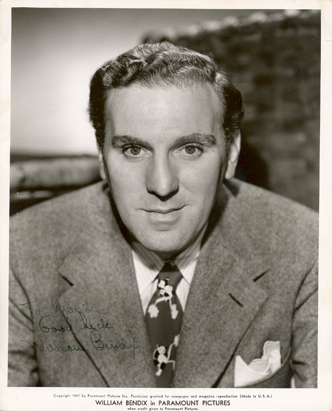 Image 1 for William Bendix - Autographed Inscribed Photograph - HFSID 52138